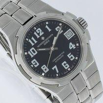 Vacheron Constantin Chronometer 35mm Automatik gebraucht Overseas (Submodel) Schwarz