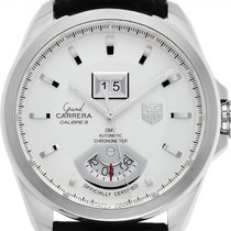 TAG Heuer Grand Carrera Staal 42mm Zilver