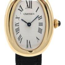 Cartier Baignoire Żółte złoto 23mm Biały Rzymskie