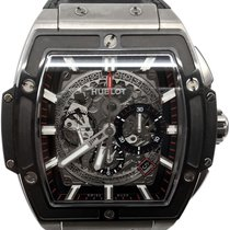 Hublot Spirit of Big Bang pre-owned 41mm Chronograph Date Crocodile skin