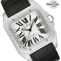 Cartier Santos 100 new Automatic Watch with original box W20076X8