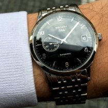 Zenith Elite Steel 37mm Black Arabic numerals