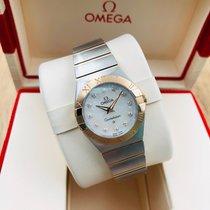 Omega 123.20.24.60.55.001 Or/Acier Constellation Quartz 24mm nouveau