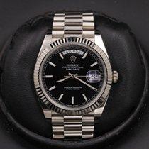 Rolex Day-Date 40 Oro blanco 40mm Negro