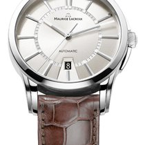 Maurice Lacroix Date Steel Case, White Dial, Silver Hands and...