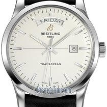 Breitling Transocean Day & Date Steel 43mm Silver United States of America, New York, Airmont