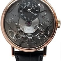 Breguet Rose gold Manual winding Black 37mm pre-owned Tradition