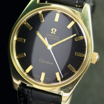 Omega Geneve Automatic Date Roll Gold Vintage Mens Watch 165.041