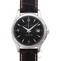 Hamilton Jazzmaster Viewmatic Auto Black Steel/Leather 40mm -...