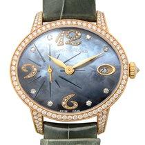 Girard Perregaux Cats Eye 18 K Rose Gold With Diamonds Blue...
