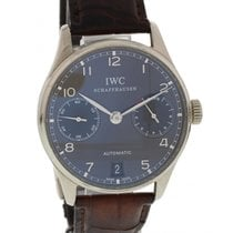 IWC Portuguese 7 Day Automatic IW500106 18K White Gold Box &...