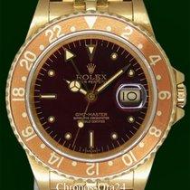 Rolex GMT-Master 16758 MINT 18k Yellow Gold Tiger EYE