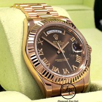 Rolex Rose gold Automatic Brown Roman numerals 41mm pre-owned Day-Date II
