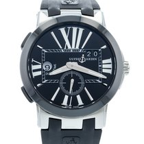 Ulysse Nardin Executive Dual Time pre-owned 43mm Black Rubber