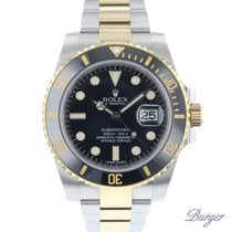 Rolex Gold/Steel 40mm Automatic Submariner Date pre-owned