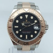 Rolex Yacht-Master 37 pre-owned 37mm Black Date Gold/Steel