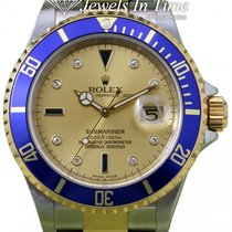 Rolex Submariner Date pre-owned 40mm Champagne Gold/Steel