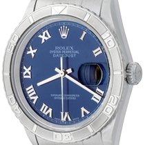 Rolex Datejust Turn-O-Graph Stahl 36mm Blau Römisch
