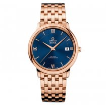 Omega De Ville Prestige Rose gold 36.8mm Blue United States of America, Florida, Miami