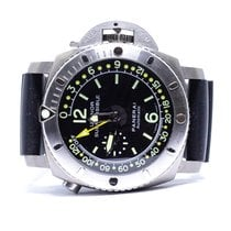沛納海 Luminor Submersible 1950 Depth Gauge 鈦 47mm 黑色