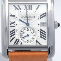 Cartier Tank Mc W5330003 35mm Stainless Steel Automatic Orange...
