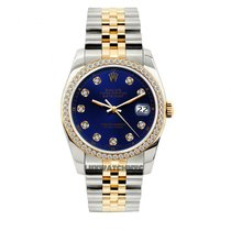 Rolex Datejust Men's 36mm Blue Dial Yellow Gold And...