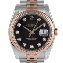 Rolex Gent's Datejust Steel & Rose Gold, Diamond Dial, 116233