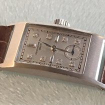 Patek Philippe pre-owned Manual winding 20mm Silver Sapphire Glass Not water resistant