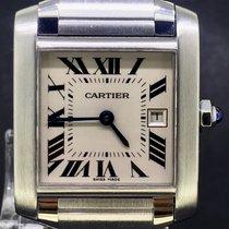 Cartier Tank Française 25MM MidSize Steel White Dial Full Set...