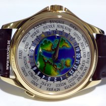 Patek Philippe World Time Complications Rose Gold Enamel Dial...