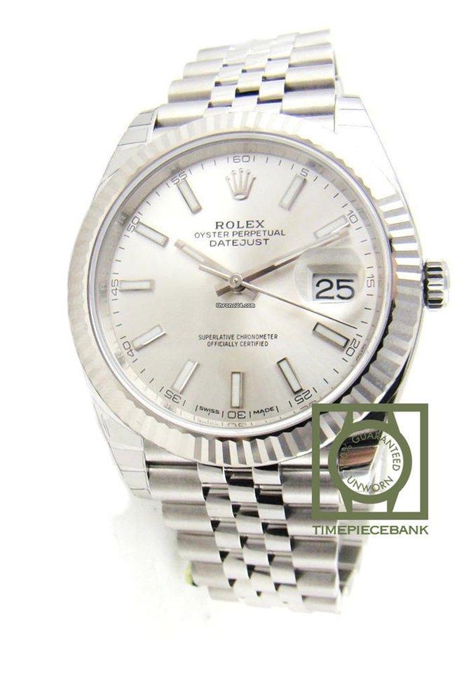 Perpetual Silver Rolex Datejust Oyster 41mm Jubilee 126334 rChxsBQtd