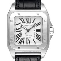 Cartier Santos 100 Steel 35.6mm Silver United States of America, California, San Mateo