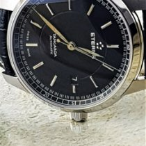 Eterna Tangaroa Steel 42mm Black No numerals