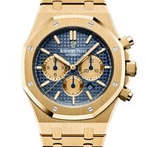 Audemars Piguet Yellow gold Automatic Blue No numerals 41mm new Royal Oak Chronograph