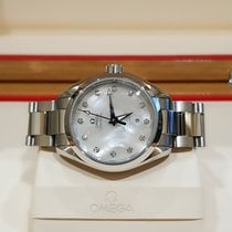 Omega Seamaster Aqua Terra Steel 34mm Mother of pearl No numerals