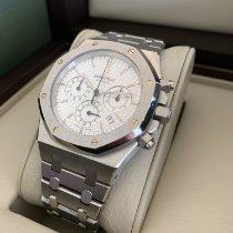 Audemars Piguet Royal Oak Chronograph Stahl 39mm Weiß Keine Ziffern