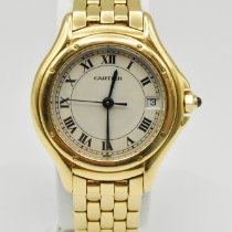 Cartier Cougar Yellow gold 26mm White Roman numerals
