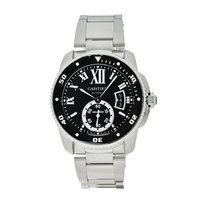 Cartier Calibre de Cartier Diver Steel 42mm Black Roman numerals United States of America, Massachusetts, Andover