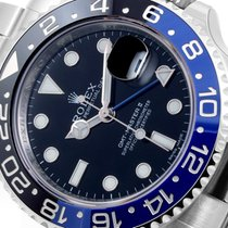 Rolex SS Ceramic GMT Master ll Black & Blue Insert 116710 Unworn