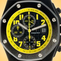 Audemars Piguet Royal Oak Offshore Chronograph occasion 42mm Noir Chronographe Date Tachymètre Cuir de crocodile