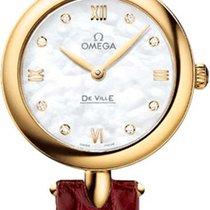 Omega Oro amarillo Cuarzo Madreperla 27.4mm nuevo De Ville Prestige