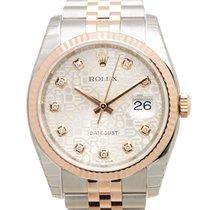 勞力士 (Rolex) Datejust 18k Rose Gold And Steel Silver Automatic...