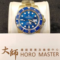 Rolex HOROMASTER-Submariner(date) 18 K Yellow Gold Blue Automatic