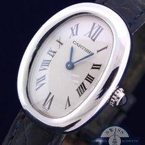 Cartier Baignoire 18K White Gold with Original Crocodile Band