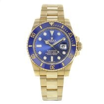 Rolex Submariner 116618 bl 18K Yellow Gold Automatic Men's W