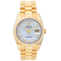 Rolex Day-Date 36 Yellow gold 36mm Mother of pearl Roman numerals United States of America, Texas, Dallas