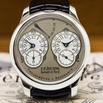 F.P.Journe Chronometre Resonance Platinum Silver Dial 40MM...