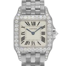 Cartier Santos Demoiselle White gold 27mm Silver Roman numerals United States of America, New York, New York