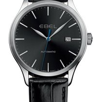 Ebel 100 Steel 40mm Black No numerals United States of America, New York, New York