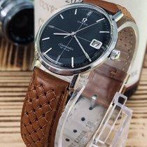 Omega Vintage 1960s Mens Seamaster De Ville Black Crosshair dial